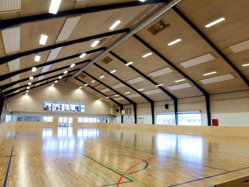 2011-2012, Ny Nørup, Opførelse af idrætshal på ca. 1800 m2